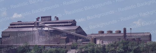 "Realistic Backgrounds 704-15 Basic Oxygen Furnace Scene 13"" x 38"""