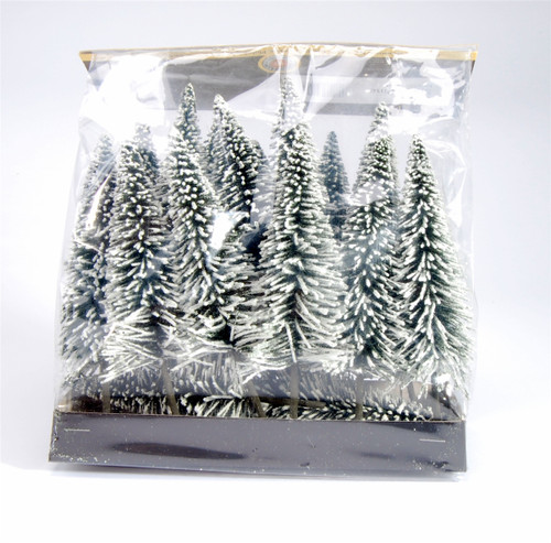 """Bachmann SceneScapes 32154 4"""" to 6"""" Pine Trees with Snow (24)"""