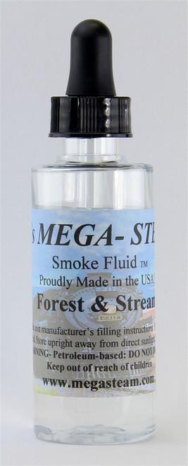 JT's Mega Steam O/HO FOREST & STREAM Smoke Fluid 2 Oz. Bottle, Forest & Stream