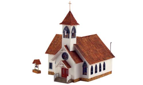 Woodland Scenics HO BR5041 Built and Ready Community Church