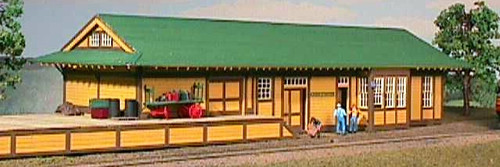 American Model Builders HO 150 Southern Pacific Combination Type 23 Depot with Dock Kit
