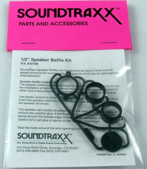 "SoundTraxx 810108 15mm (0.590551"") Speaker Baffle Kit"