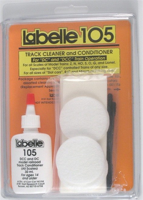 Labelle 105 1 fl. oz. Track Cleaner and Conditioner for DC and DCC Train Operation