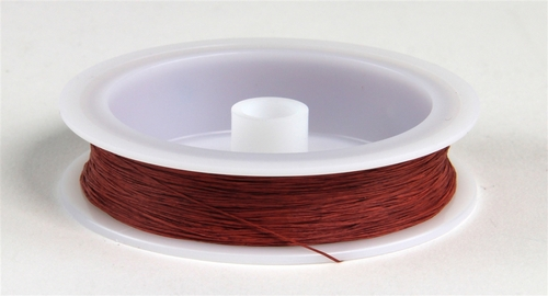 """Berkshire Junction EZ Line O/S Elastic Polymer Simulated Telephone and Electric Line, Heavy .020"""" Diameter x 100' Long, Rust/Copper"""