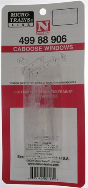 Micro-Trains N 49988906 Caboose Windows (For use on the Micro-Trains 51000 caboose)