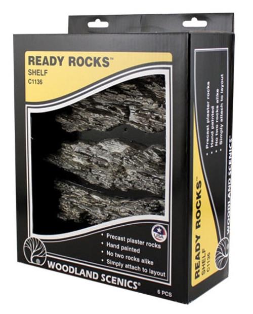 Woodland Scenics C1136 Shelf Ready Rocks (6)