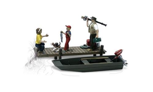 Woodland Scenics HO A1923 Family Fishing