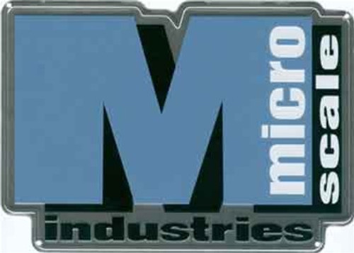 "Microscale 10031 Microscale Logo 8"" x 6"" Square Embossed Aluminum Sign"