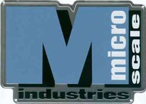 "Microscale 10031 Microscale Logo 8"" x 6"" Square Embossed Aluminum Sign"