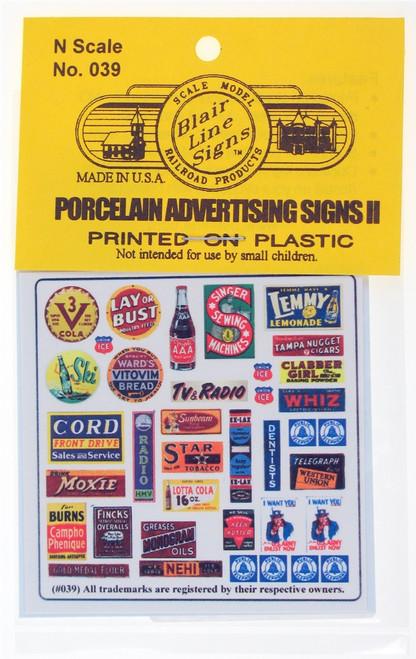 Blair Line N 039 Porcelain Advertising Signs II