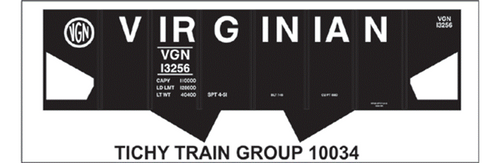 Tichy Train Group N 10034 Virginian USRA Hopper Decal Set (d)