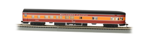 Bachmann HO 14307 85' Smoothside 3-2 Observation Car with Lighted Interior, Southern Pacific (Daylight) #2955