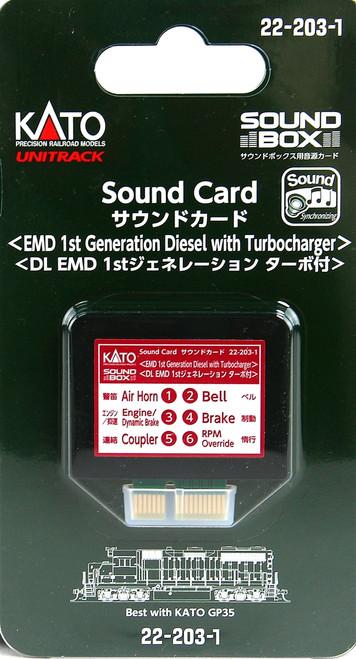 Kato HO/N 22203-1 Sound Card, EMD 1st Generation Diesel with Turbocharger