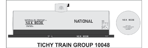 Tichy Train Group N 10048 National Oil Company Decal Set for 8,000 Gallon Tank Car (d)