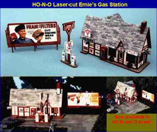 Blair Line N 081 Ernie's Gas Station Kit