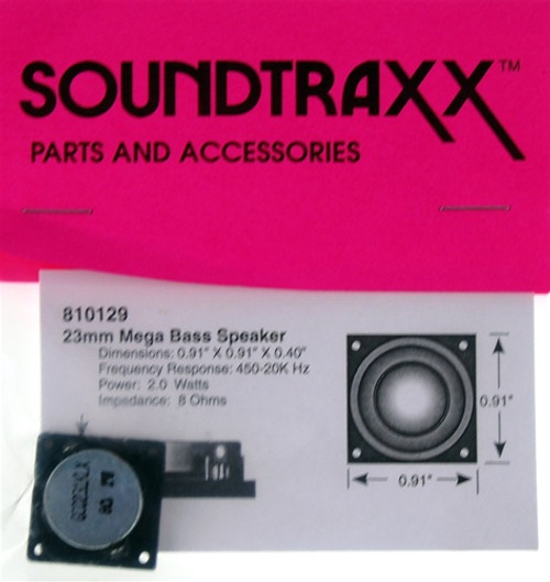 "SoundTraxx 810129 23mm x 23mm x 10.2mm(D) (0.905512"" x 0.905512"") Square Mega Bass Speaker"