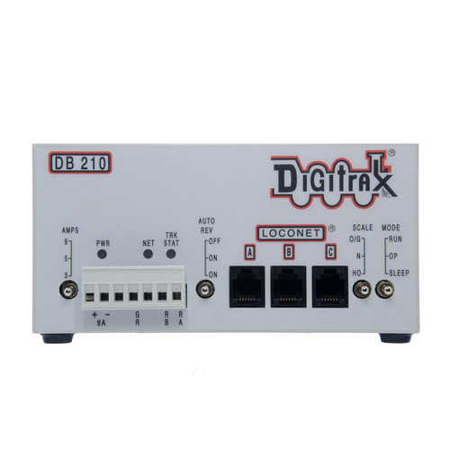 Digitrax DB210 Advanced LocoNet Single 3/5/8 Amp AutoReversing DCC Booster (Up to 8 Amps of Power)