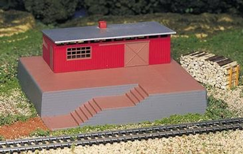 Bachmann HO 46209 Storage Building with Steam Whistle Kit
