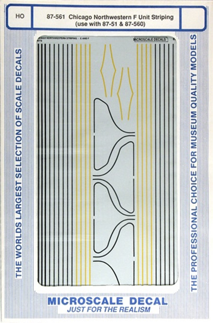 Microscale HO 87-0561 Chicago and Northwestern F-Unit Striping (d)