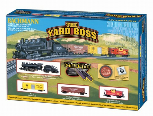 Bachmann N 24014 The Yard Boss, Santa Fe Electric Train Set with E-Z Track