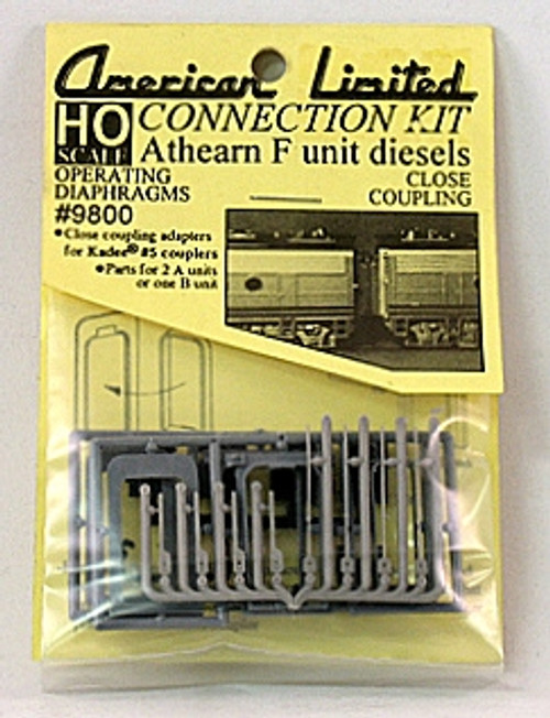 American Limited HO 9800 Athearn F-Unit Connection Kit, Gray