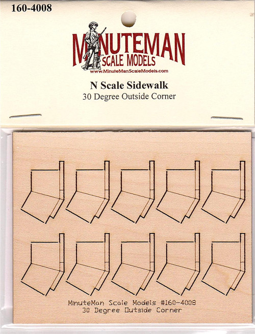 Minuteman Scale Models N 160-4008 Sidewalk, 30 Degree Outside Corner (d)