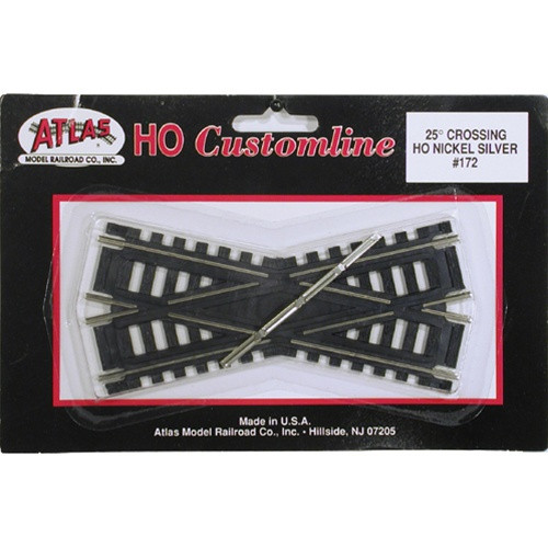 Atlas HO 172 Code 100 Track 25-Degree Custom-Line Crossing