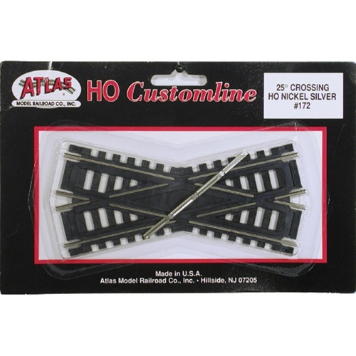 Atlas HO 172 Code 100 Track 25-Degree Custom-Line Crossing