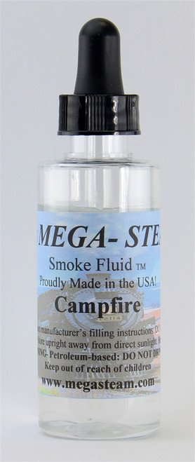 JT's Mega Steam O/HO CAMPFIRE Smoke Fluid 2 Oz. Bottle, Campfire