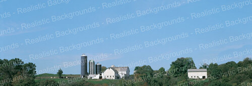 "Realistic Backgrounds 704-08 Farm Scene 13"" x 38"""