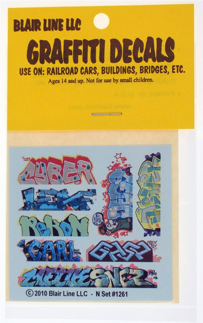 Blair Line N 1261 Graffiti Decals Mega Set #12