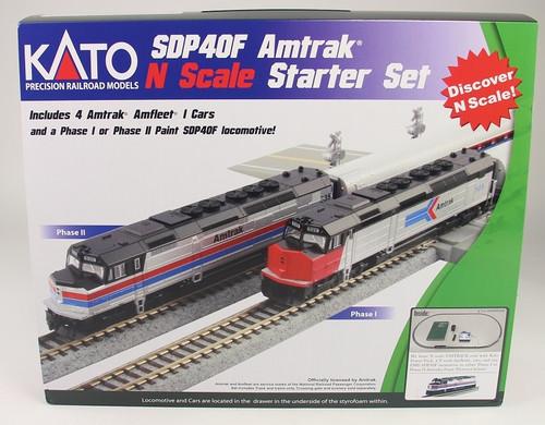 Kato N 1060044 Amtrak SDP40F, Phase II Paint, and Amfleet I Cars, Starter Set
