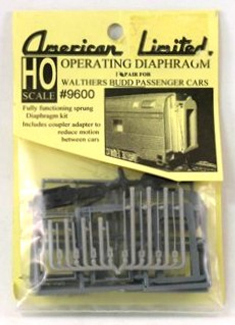 American Limited HO 9600 Operating Diaphragm for Walthers Budd Passenger Cars (1 Pair)