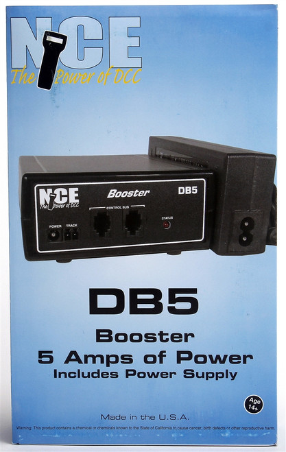 NCE 524028 (DB5) 5 Amp Booster with Power Supply
