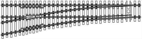Central Valley Model Works HO 2571 Code 70 Curvable Switch Kit #5 Left