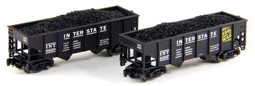 Full Throttle Z FT2051 Open 33' Rib-Side 2-Bay Hopper Set, Interstate (2-Pack)