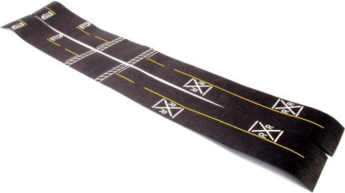 Leisure Time Products HO 205 Mini Highways, Railroad Crossings and Intersections with Yellow Center Lines (6 Feet)