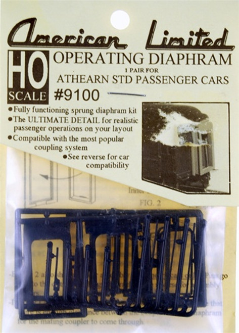American Limited HO 9100 Operating Diaphragm for Athearn Standard Heavyweights (1 pair)