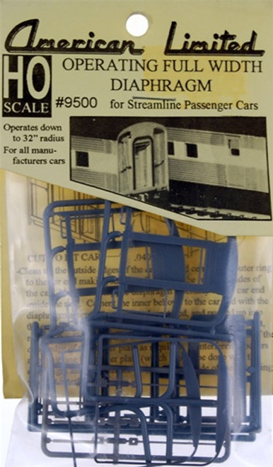 American Limited HO 9500 Operating Diaphragm for Streamline passenger cars- 1 pair)