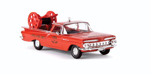 Brekina HO 19940 1959 Chevrolet El Camino Pickup Truck, New York Vista Fire Rescue