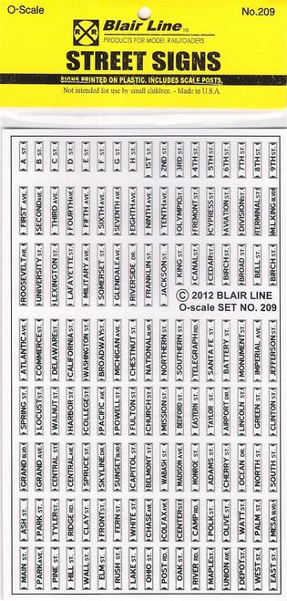 Blair Line O 209 Street Signs