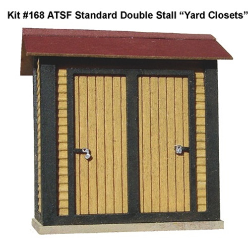 "American Model Builders HO 168 ATSF Standard Double-Stall ""Yard Closets"" Kit (2-Pack)"