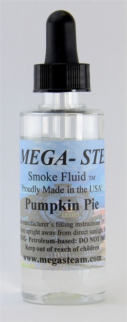 JT's Mega Steam O/HO PUMPKIN Smoke Fluid 2 Oz. Bottle, Pumpkin Pie