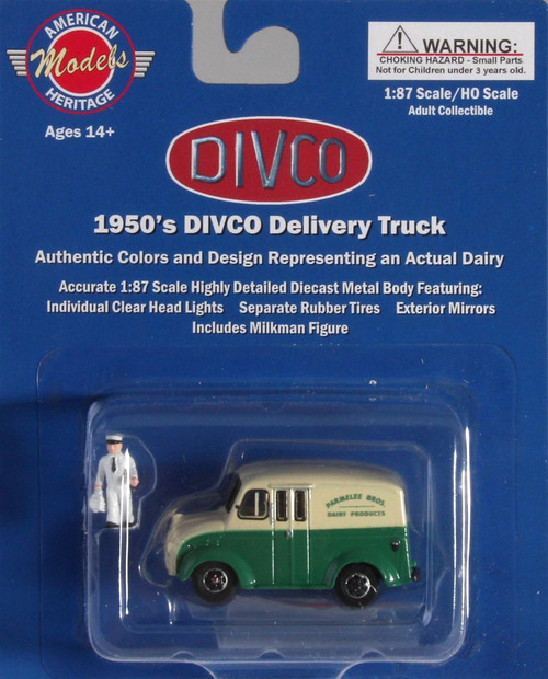 American Heritage Models HO 87-005 Divco Delivery Truck with Milkman and Carrier, Parmelee Broad Dairy, CT