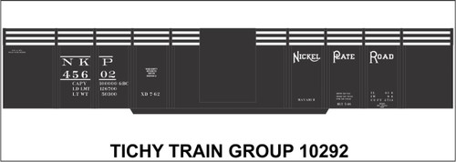 "Tichy Train Group HO 10292 Nickel Plate 41' 6"" Steel Gondola Decal Set"