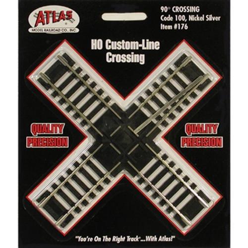 Atlas HO 176 Code 100 Track 90-Degree Custom-Line Crossing
