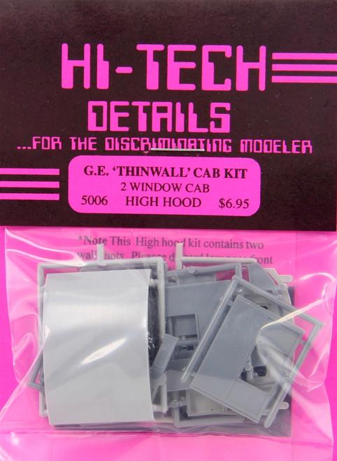 Hi-Tech Details HO 5006 GE Diesel Thinwall Cab Kit, 2-Window High Hood Version (d)