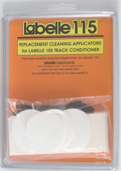 Labelle 115 Replacement Cleaning Pads and Applicators for Labelle 105 Track Conditioner
