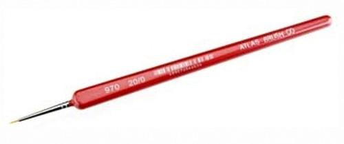 Atlas Brush Co. 0976 Golden Taklon Detail Brush, 20/0 (Triangle Handle)
