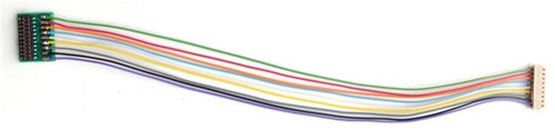 """Train Control Systems 1354 T-Harness 5"""" Harness Wires 9-Pin JST to 21 NEM Plug"""